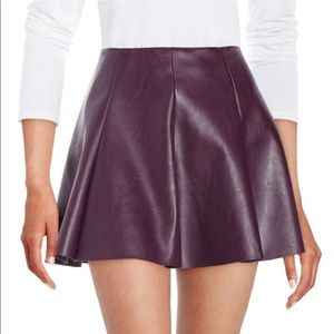*NWT* Design Lab Lord + Taylor Plum Skater Skirt